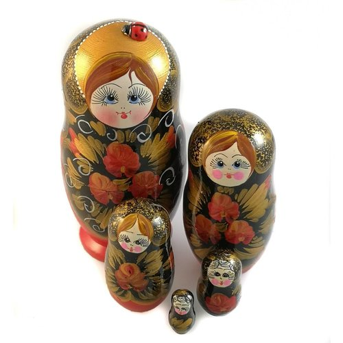 Russian Gifts 5 Nesting Martyoshka Doll Large 24