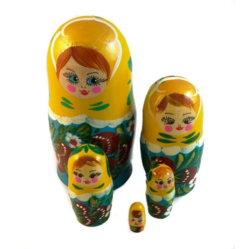Russian Gifts 5 Nesting Martyoshka Doll  Small 25