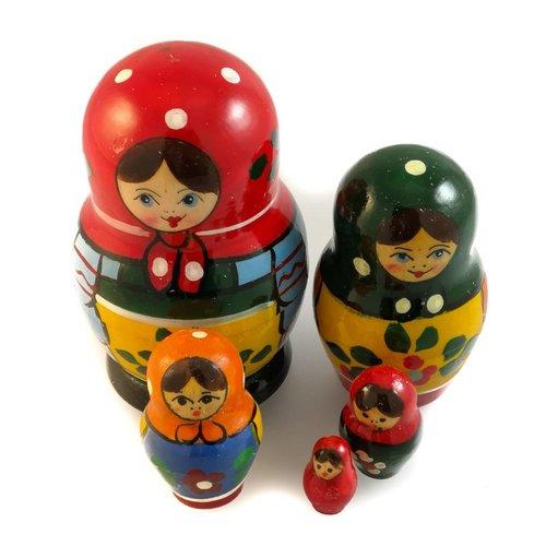 Russian Gifts 5 Muñeca Martyoshka anidada pequeña 28