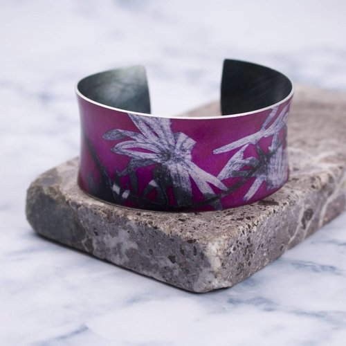 Gillian Arnold Cuff bracelet  star trail  botanical design 09