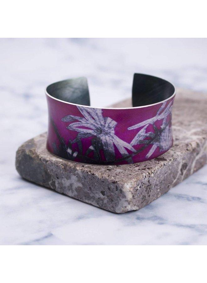 Cuff bracelet  star trail  botanical design 09