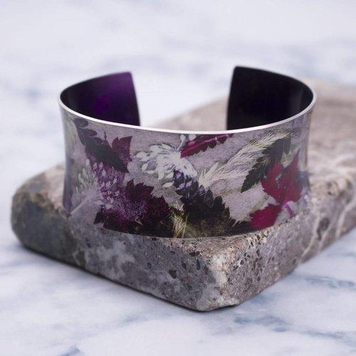 Gillian Arnold Cuff bracelet  floral dance  botanical design 10