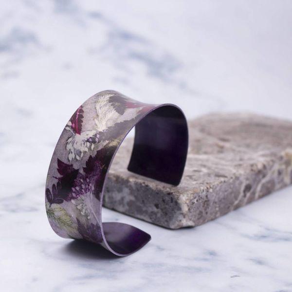 Cuff bracelet  floral dance  botanical design 10