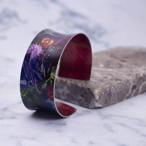 Gillian Arnold Cuff bracelet tropical indigo botanical design 13