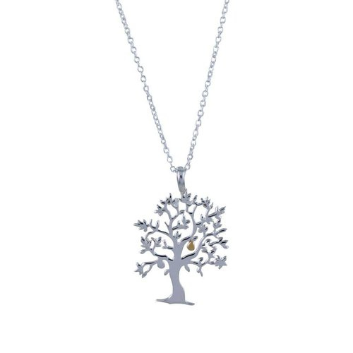Reeves and Reeves Nut tree silver necklace 59