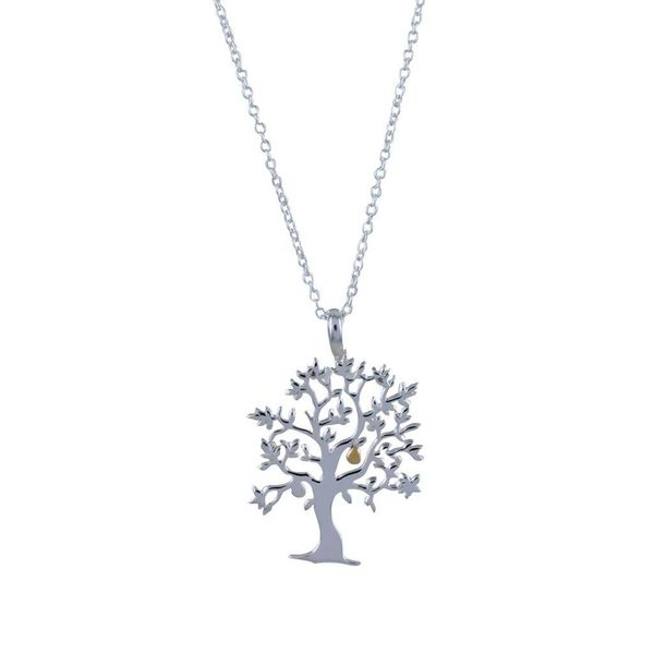 Nut tree silver necklace 59
