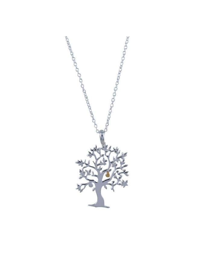 Nut tree silver necklace 59