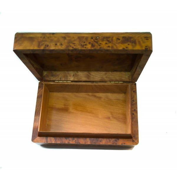 Flor de cerezo peltre y caja con bisagras de madera 15