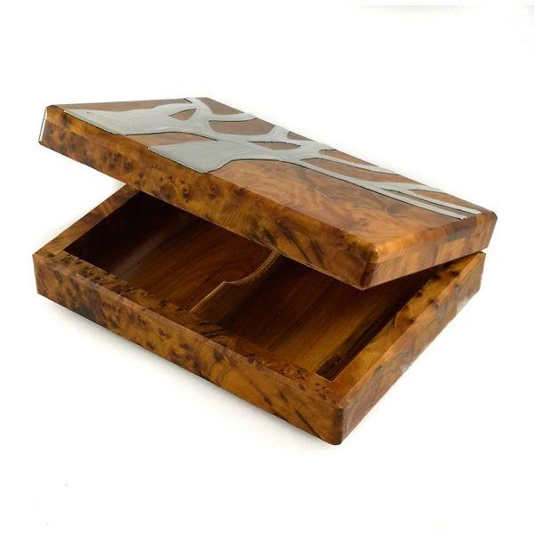 Estanque de roble de peltre y tarjeta de madera 17