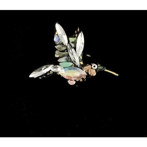 Annie Sherburne Broche de colibrí blanco vintage 106