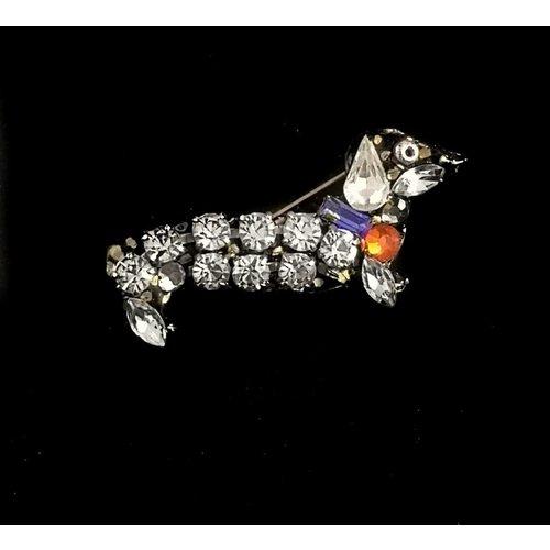 Annie Sherburne Vintage dachund  brooch 107