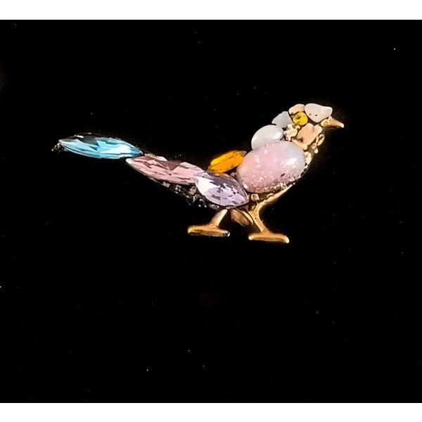 Aves de cola azul vintage pequeño broche 109