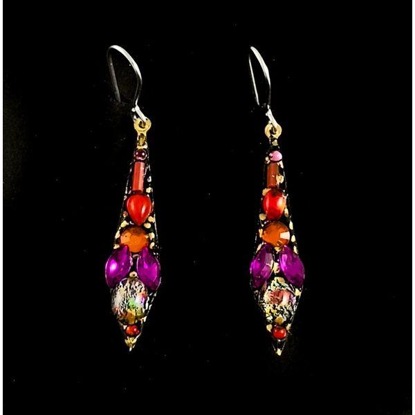 Vintage small drop earrings 123