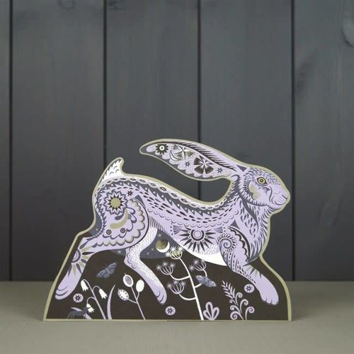 Art Angels Hester the Hare cut card by Sarah Young