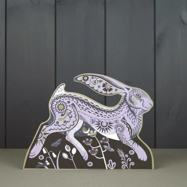 Hester the Hare cut card by Sarah Young