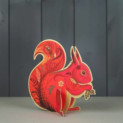 Art Angels Cyril Squirrel cut card de Sarah Young