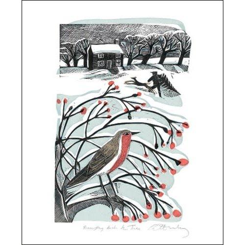 Art Angels Bringing Back the Tree  Card by Angela Harding