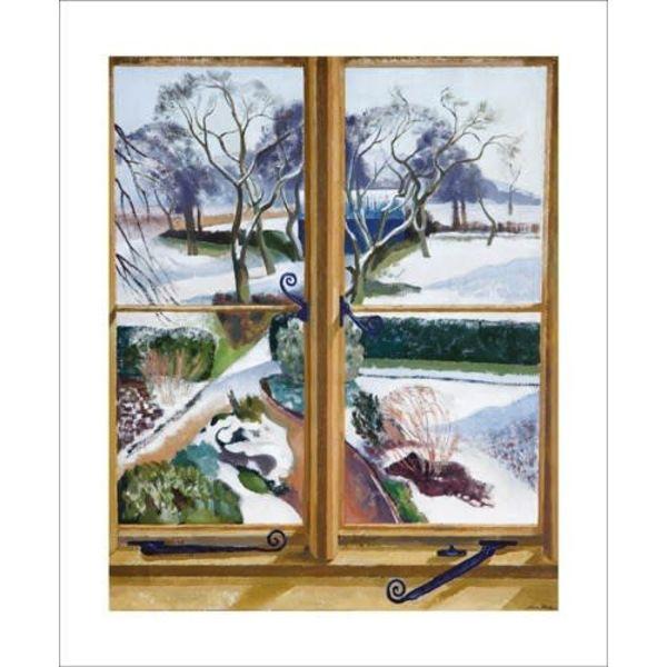El jardín bajo la tarjeta de nieve por John Nash