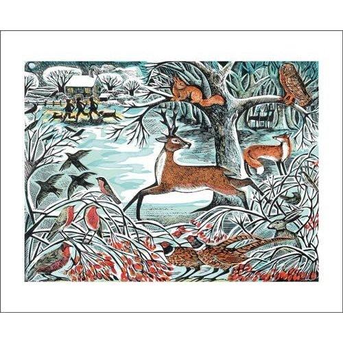 Art Angels Winterwaldkarte von Angela Harding