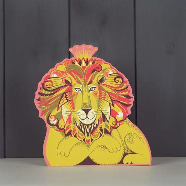 Clarence the Lion  cut card by Sarah Young