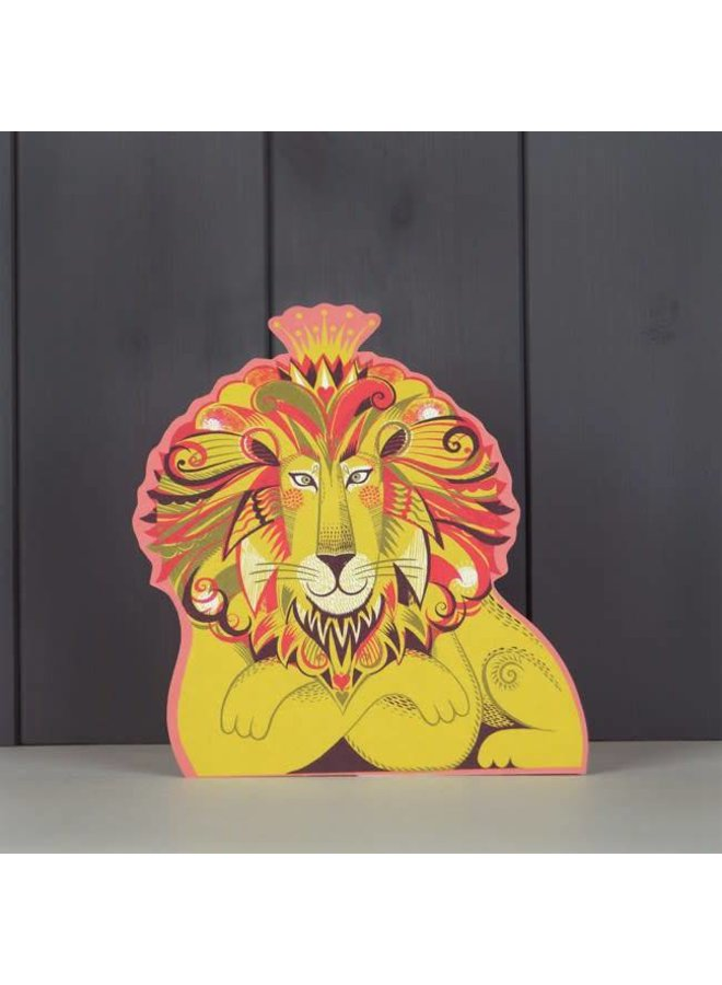 Clarence the Lion Schnittkarte von Sarah Young