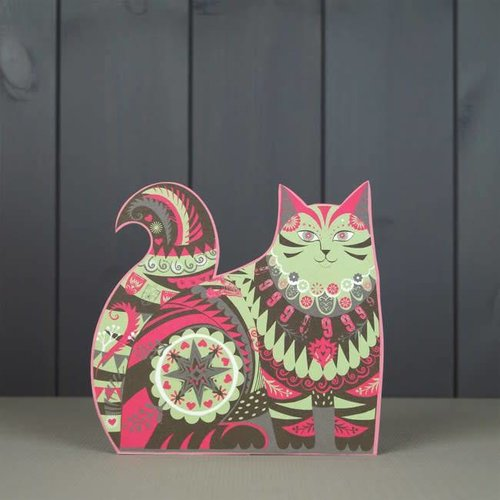 Art Angels Marmaduke Cat  cut card by Sarah Young