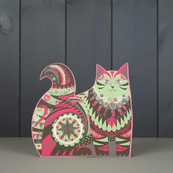 Marmaduke Cat  cut card by Sarah Young
