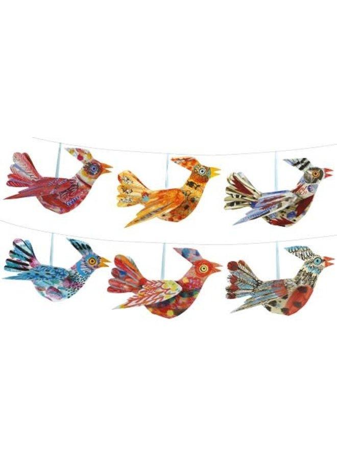 Flying Bird Folding Card Decoration Mark Hearld