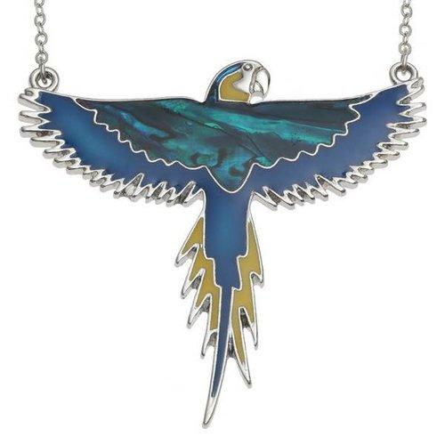 Tide Jewellery Guacamayo volando con incrustaciones Paua shell y mop collar 96
