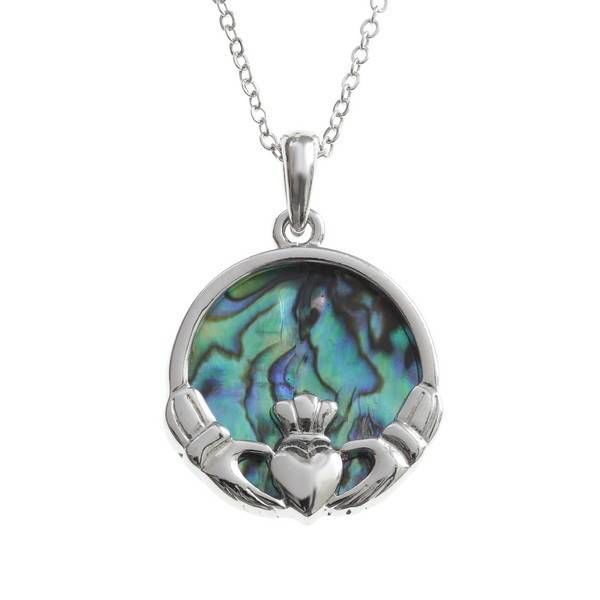 Claddagh Inlaid Paua shell  necklace 91