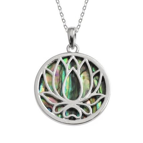 Tide Jewellery Lotus Waterlily Paua shell necklace 98