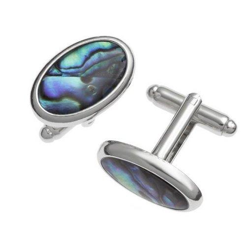 Tide Jewellery Gemelos concha ovalada con incrustaciones de Puau 104