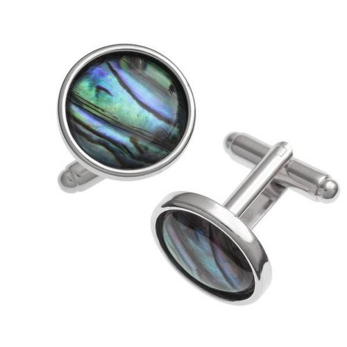 Tide Jewellery Runde, eingelegte Puau - Muschelknöpfe 105