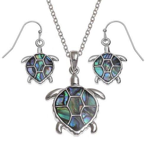 Tide Jewellery Turtle Drop  Inlaid Paua shell  Earrings 106