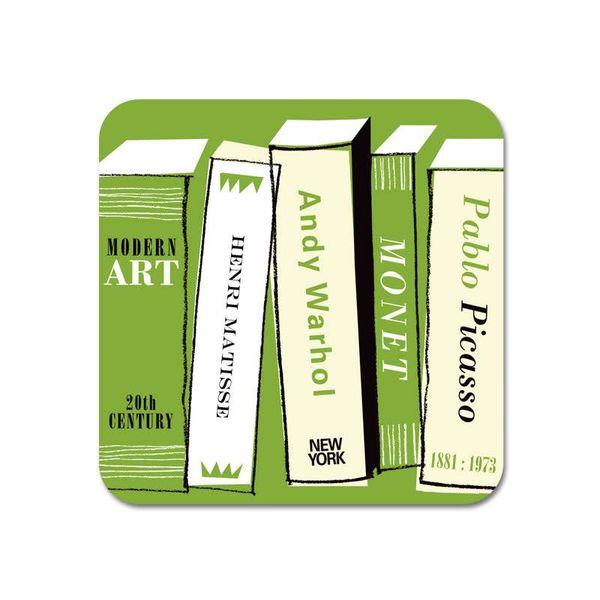 Gallery Fridge Magnet Art Books green  67