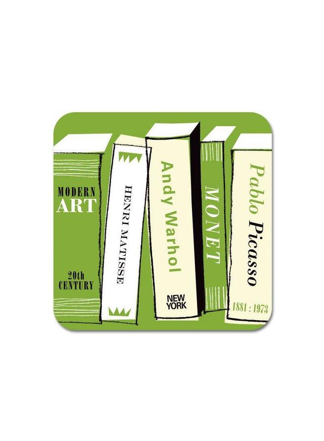 Galerie Kühlschrankmagnet Art Books green 67
