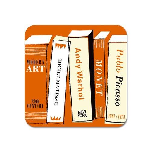 Repeat Repeat Galería Imán de Nevera Libros de Arte Naranja 66
