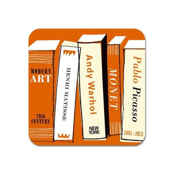 Gallery Fridge Magnet Art Books orange  66