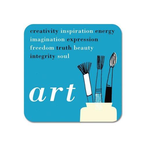 Repeat Repeat Gallery Fridge Magnet Art words blue  64