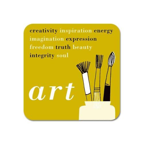 Repeat Repeat Gallery Fridge Magnet Art words olive  65