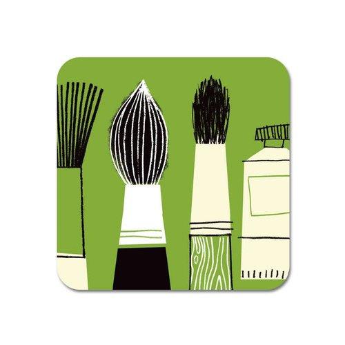 Repeat Repeat Gallery Fridge Magnet Brush green  62