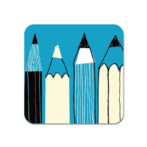 Repeat Repeat Gallery Fridge Magnet Pencils blue  61