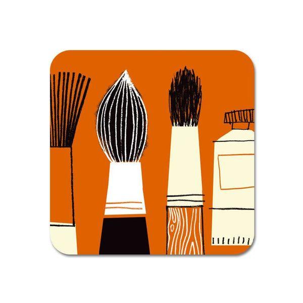 Galerie Kühlschrankmagnet Pinsel orange 63