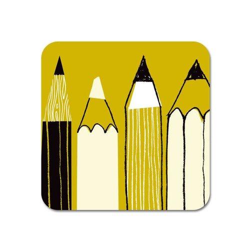 Repeat Repeat Gallery Fridge Magnet Pencils olive  60