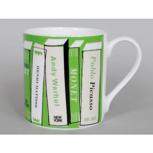 Repeat Repeat Libros de arte taza grande verde 51