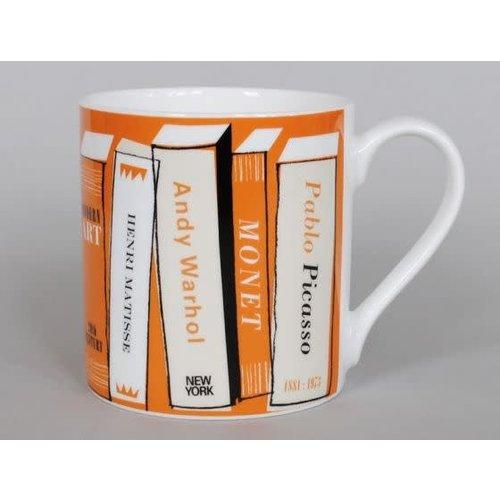 Repeat Repeat Libros de arte taza grande naranja