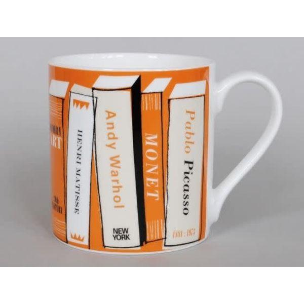 Libros de arte taza grande naranja