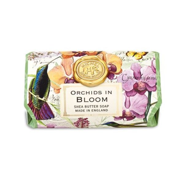 Orchids in Bloom Large Bath Shea  Soap Bar