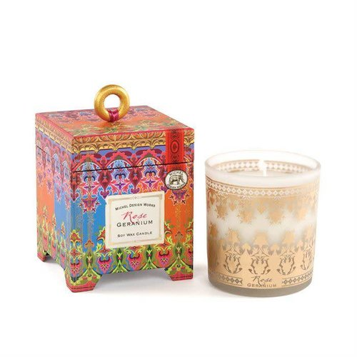 Michel Design Works Rose Geranium 6.5oz Soy Wax Candle