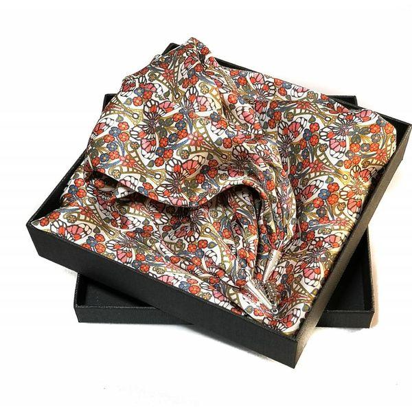 Morris rosa bufanda de satén y seda con cierre magnético en caja